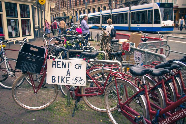 Amsterdam Basket Bike Bike Basket Bike On Rent Bike Rental Bikes Red Bike Rent A Bike Tram