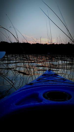 Kayak Sunset Outdoor Reeds Water Lakes  Lake