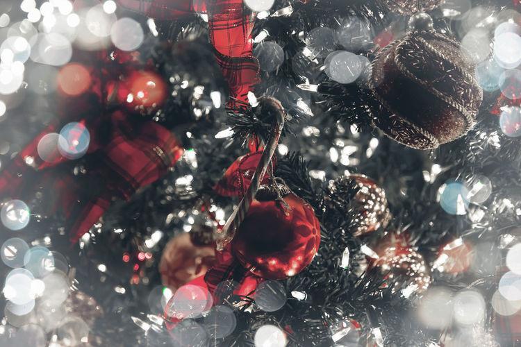 Full frame shot of christmas lights