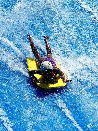 Wave Pool Body Boarding Water Fun! Blue Splash Joy Excitement Adrenaline Wet Wet Wet Splashing Water