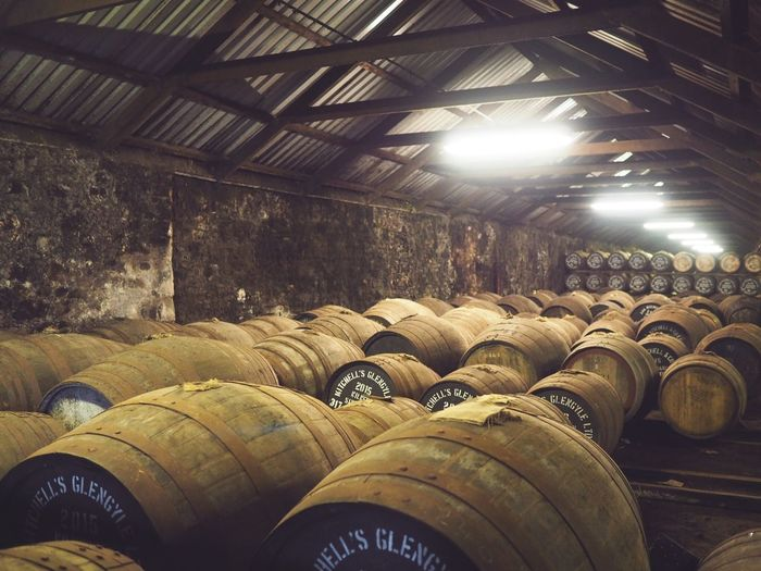 Warehouse Cask Whisky Cask Whisky Whısky Whisky Distillery Scotland Wine Wine Cellar Cellar Barrel Winery Warehouse Indoors  Alcohol Wine Cask