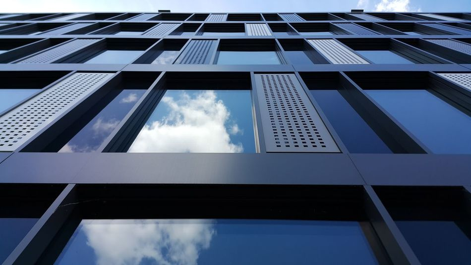 Cloud - Sky Day Building Exterior Sky City Architecture The Architect - 2017 EyeEm Awards Architecture City City Life Built Structure Workplace Blue Window Cloud And Sky Cloud Windows White Clouds Ludwigshafen Blue Sky Glass Reflection Reflection Reflections Glass