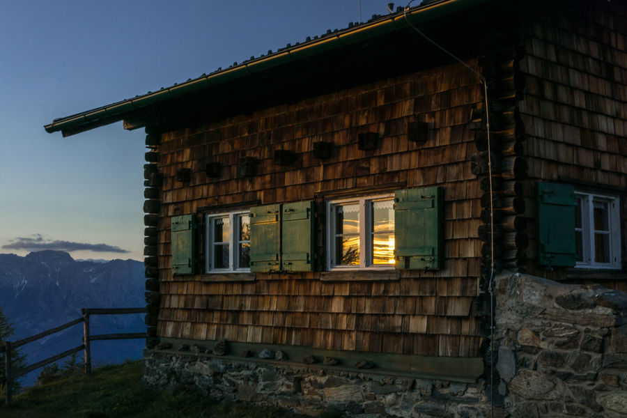 Grünboden - Holiday at home No People EyeEm Summer Enjoying Life Enjoying The Moment Relaxing Moments Cottage Outdoors Sunset Reflection Reflections Nature Old Buildings Architecture Building Exterior Sky Built Structure Tranquil Scene Calm