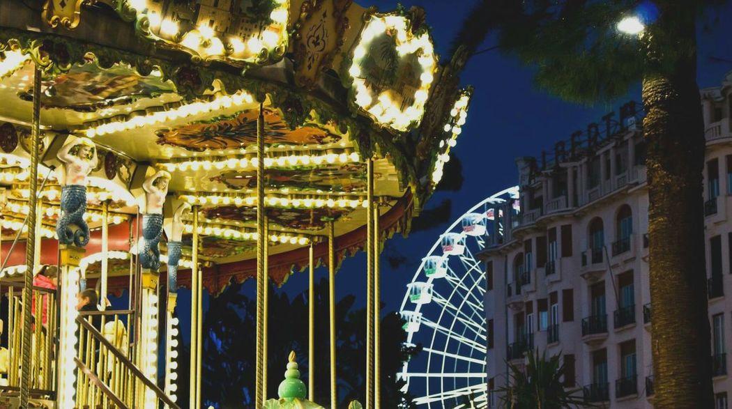 Authentic Moments Sweet Moments MerryChristmas Noel2015 Light Carousel Children Dream Celebration Frenchriviera Nice Ferris Wheel Lovemoment Boyfriend Friends Nightdreams Eyemphotography Eyem Gallery