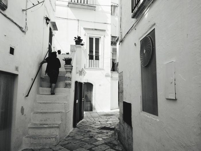 Door Built Structure Architecture Day Locorotondo Real People Puglia South Italy Italy🇮🇹 Puglia, Italy One Woman Only One Woman Blackandwhite Photography Black And White Photography Blackandwhitephotography