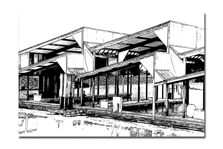 Covered Wet Berths 1 San Leandro Marina Boat Slips Berths Docks Storage Nautical Vessels Architecture Architectural Detail Geometric Shapes Pattern Pieces Abstract Abstract Photography Monochrome Monochrome_Photography Sketch Ink Stamp Black & White Black & White Photography Black And White Black And White Collection  Reflections Reflections In The Water Diagonals Rectangles Corners Squares Wood Metal