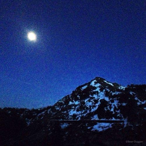 Nearly Full Moon Over Donner Peak