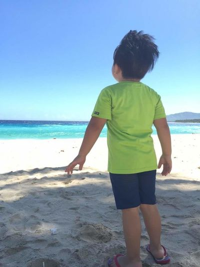 Amazed Boy Azure Beach Beach Holiday Beauty In Nature Blue Sky Child Childhood Horizon Over Water Little Boy In The Sea Nature Outdoors Rear View Sand Sea Sea And Sand Sea Waves Shore Sky Sky And Clouds Sunny Shoreline Vacations