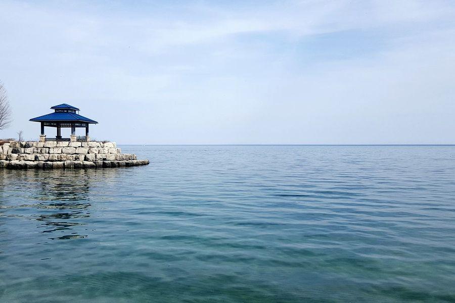 🚣 Secondeyeemphoto Lakeontario  Water Blue Gazebo Boardwalk