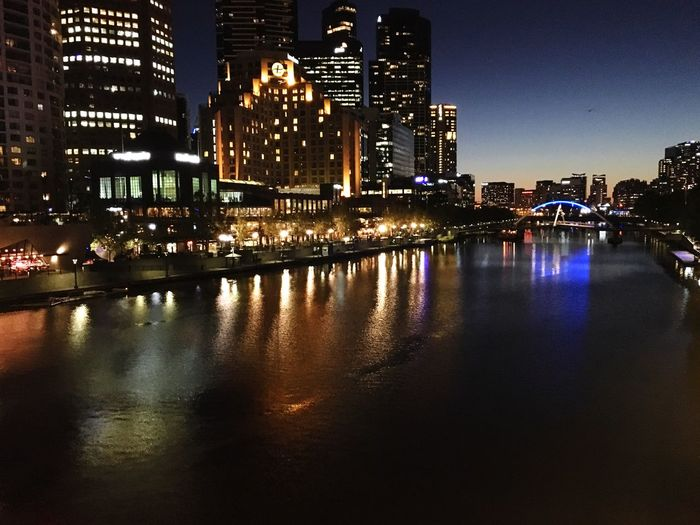 Overnight Success TakeoverContrast Architecture Building Exterior My Year My View City Night Water Waterfront Reflection Skyscraper Cityscape Building Story Tall - High City Life Travel Destinations River Tower Yarra Yarra River Melbourne River Reflection Water Reflections Finding New Frontiers Embrace Urban Life The City Light