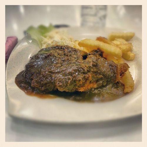 Chicken chop black pepper sauce Juvita..bismillah