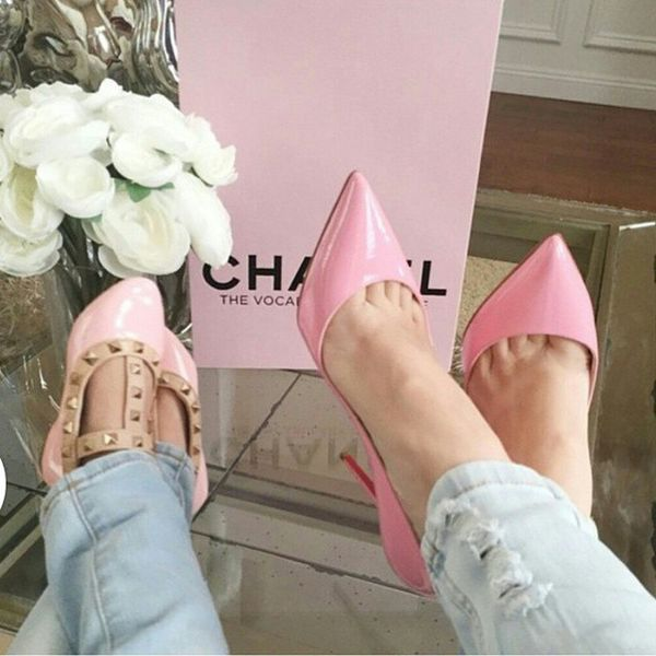 Chanel Rosé Ouijekifflerose Pink Shoes Talon Kisskiss Kids Kidsfashion Jeans Les2meme 😊🎀🌸