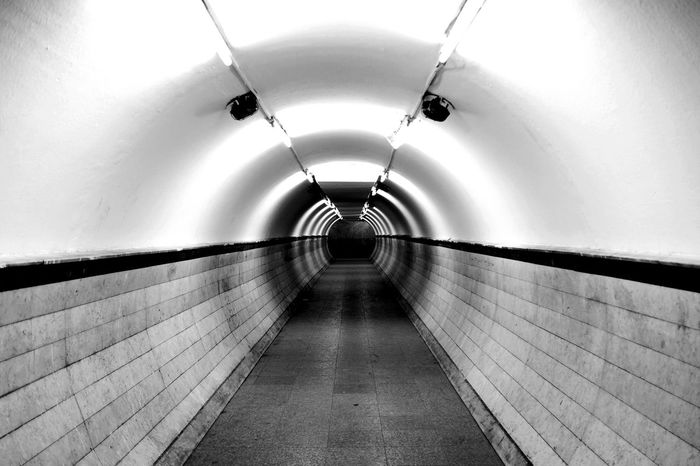 Urban Indoors  The Way Forward Architecture Illuminated Tunnel Built Structure Subway Station
