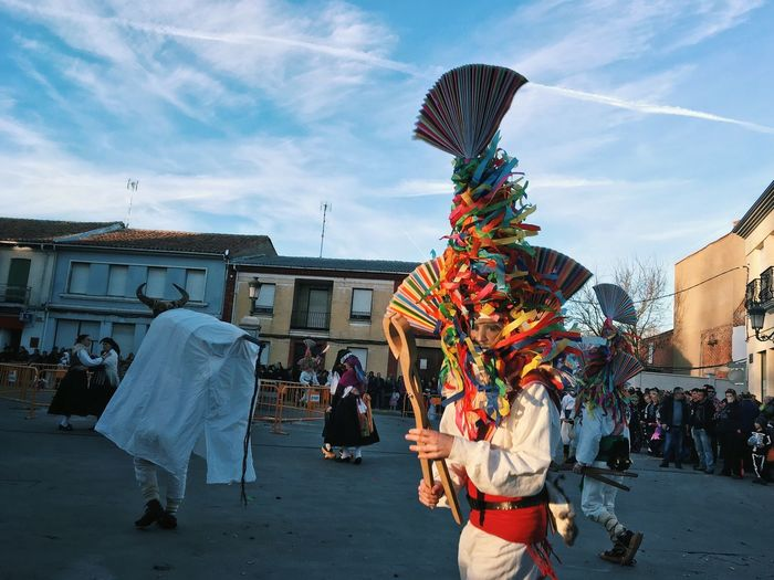 Carnival Crowds And Details Multi Colored Real People Sky Lifestyles Celebration Outdoors LeonEsp  SPAIN Carnival Antruejo Carrizo De La Ribera Tradition Traditional Colourful Rural Scene Rural Spain The Street Photographer