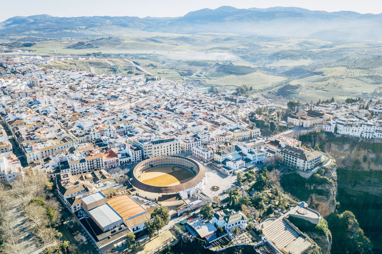 Andalucía City DJI X Eyeem Ronda Ronda Bridge Aerial View Architecture Bridge Building Exterior Built Structure City Cityscape Day High Angle View No People Outdoors Travel Destinations Mobility In Mega Cities