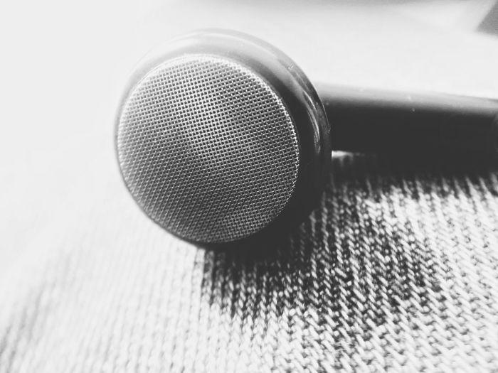 earphones. Monochrome Blackandwhite Mobilephotography PhonePhotography EyeEm Selects Earphones In Ear Sound Music Lifestyles Music Close-up Audio Electronics Audio Equipment