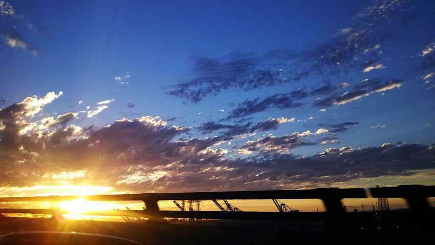Cloud - Sky Sky Outdoors Landscape Sunset Scenics No People Portoflosangeles Vincent Thomas Bridge The Still Life Photographer - 2018 EyeEm Awards
