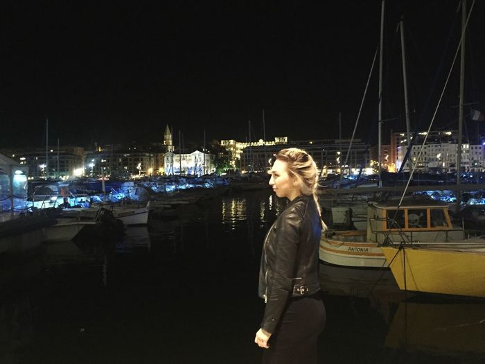 Check This Out That's Me Hanging Out Hello World Relaxing Taking Photos Enjoying Life Sea Tourism Europe France Traveling Having Fun Snapchat Me Snap Snapchat Blonde Fun Happy Braids Port Night Night Lights
