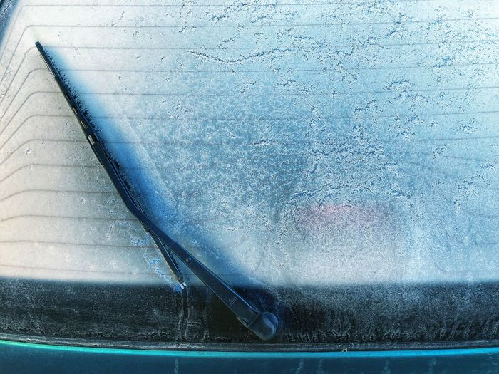 Blue No People Day Car Frozen Cold Winter Morning Window Glass Mode Of Transportation Transportation Motor Vehicle Land Vehicle Close-up Nature Outdoors Metal Wet Transparent Backgrounds Windshield Wiper