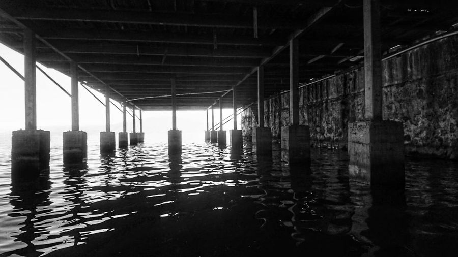Water Architecture Built Structure Indoors  No People Waterfront Architectural Column