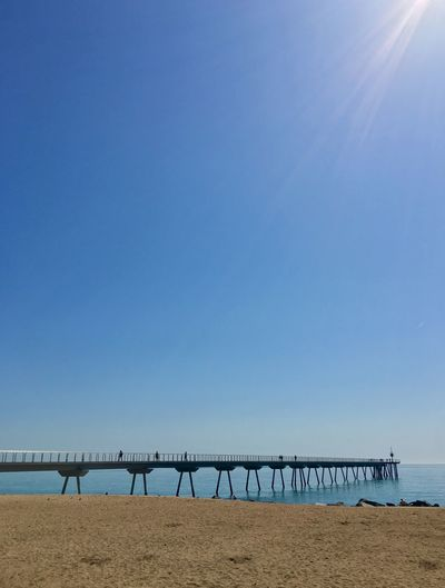 See the sea Boardwalk Sky Water Blue Sea Clear Sky Nature Tranquility Beach Horizon Over Water