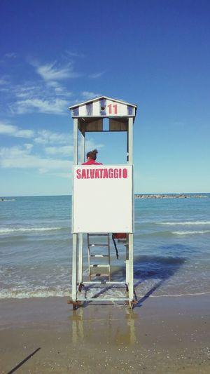 Beautiful Nature Italy Holidays Sea And Sky Mare E Sole Estate Italiana Bagnino Very Beautiful Voglia Di Mare,di Estate, Di Amici E Vacanze❤ Tuffarsi Lifeguard  Sea Salvataggio Adriatic Sea