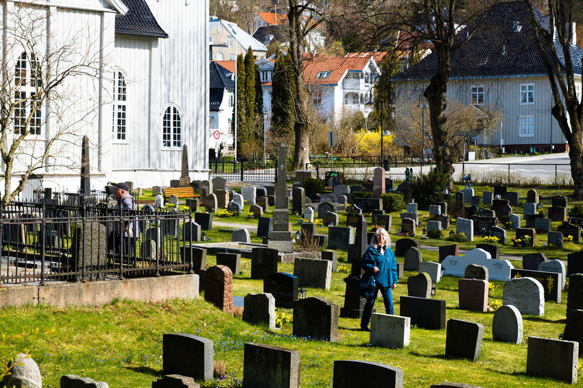 Architecture Building Building Exterior Built Structure Cemetary City City Life Day Drøbak Fountain Grass Graveyard Beauty Large Group Of People Lawn Leisure Activity Lifestyles Men Norway Outdoors Park - Man Made Space Person Sculpture Tree