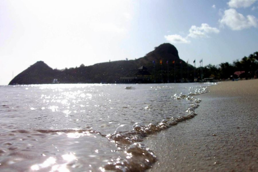 This picture is of Pigeon Island beach in St.Lucia Beach Beach Life Beachphotography Calm Nature's Diversities Lakeshore Nature Outdoors Reflection Rippled Macro Beauty Sand Sea Seeing The Sights Summer Views Summertime Swimming Tranquil Scene Tranquility Vacation Vacations Voyage Water Water Surface Photography In Motion