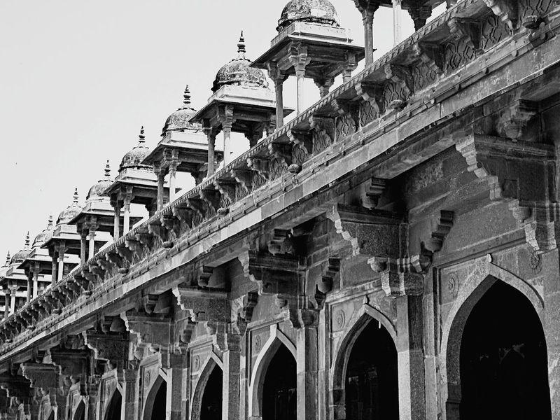 Architecture Monochrome MughalEra Arch Indian Array Beauty Sand Stone