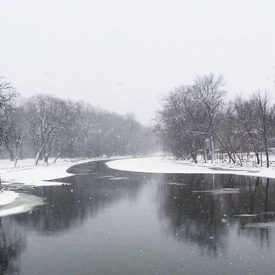 Snow and ice on the Fox River Nature Ice River Fox River Winter Water Reflections Snow And Ice  Wintry Scene Landscapes