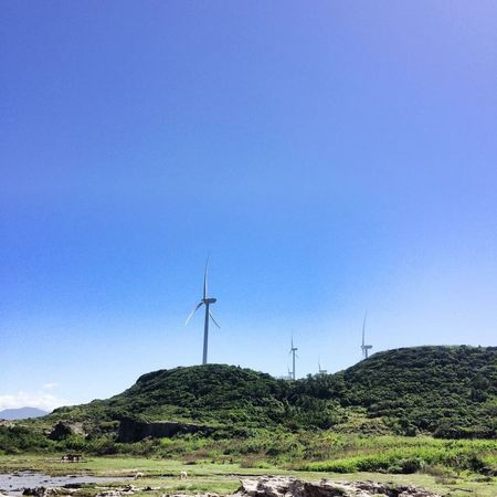 Windmill Clear Sky Rural Scene Countryside Beauty In Nature Laoag City Philippines