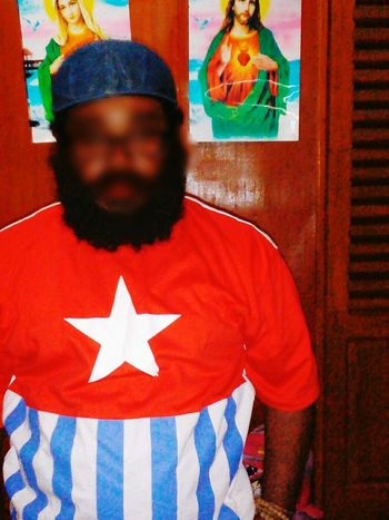 One Person Only Men West Papua Culture Coulture West Papua Men West Papua Flag West Papua People West Papua Politic Of Freedom West Papua Want To Free Of Indonesia Colonial.One Man Only Archival Adults Only Men Front View Tradition People Adult Indoors  Day Papua Free Of Indonesia Colonial
