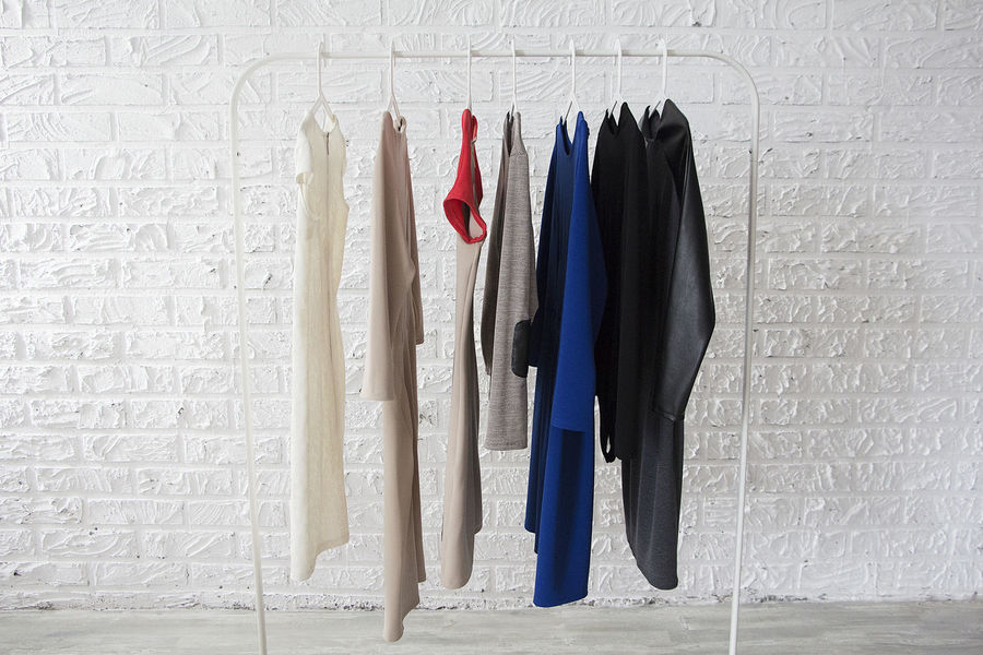 Art Beautiful Cloth Clothes Collection Dress Dresses Fashion Hangers How To Wear Sun Glasses - Heavy Style Piece Of Cloth Rail Sweatshirts Wardrobe Wardrobe Room What To Wear White Wall
