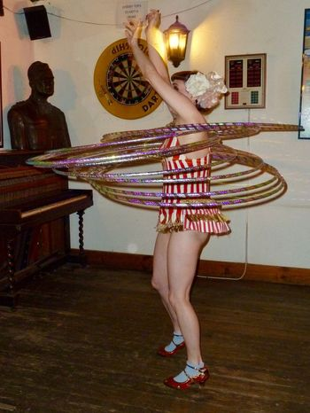 Burlesque Dancing English Pub Hula Hoops