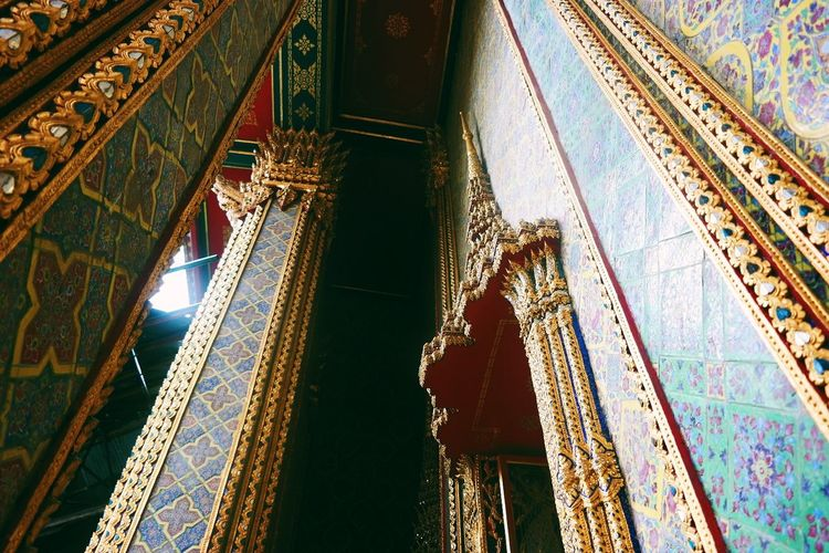 Bangkok Thailand Street Photography Bangkok Thailand Architecture Architecture_collection Temple Thai Architecture Rooftop View  Ceiling Design Ceiling Tiles Textures Tiles Architecture Colourful