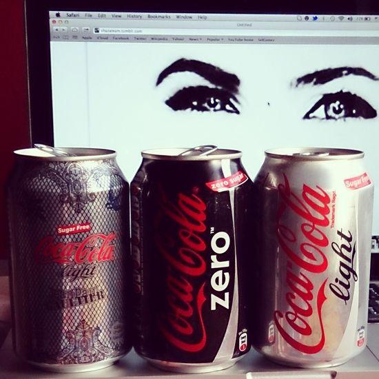 Drinking Coke Dietcoke Cocacolazero