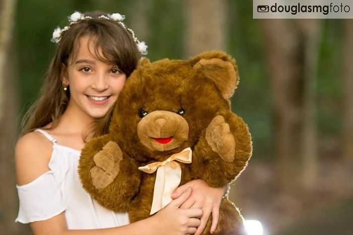 Family Familyday Menina Bear Teddy Bear Stuffed Toy Smiling Toy Childhood Happiness Child Love