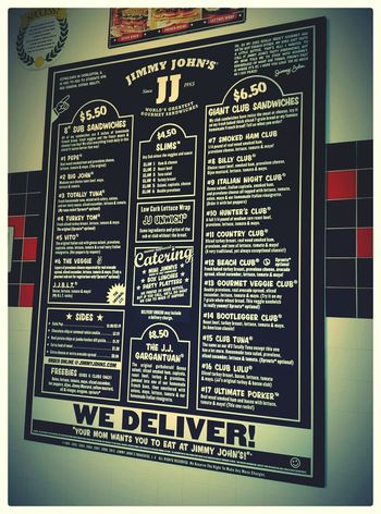 Advertisement Posters Jimmyjohns Eating Out Restaurant Decor Restaurants Submarines Sandwiches Food And Drink Ads Posters