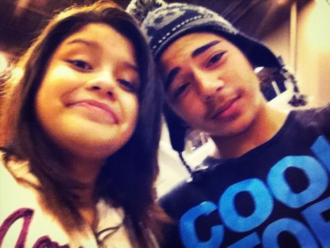 """Babby and Me Yesterday :) at the rodeo he was like """" yuh knw yuh the first one tht i ever take out and pay for every thing i fucking love yuh gorda :) """" i fucking love hem"""