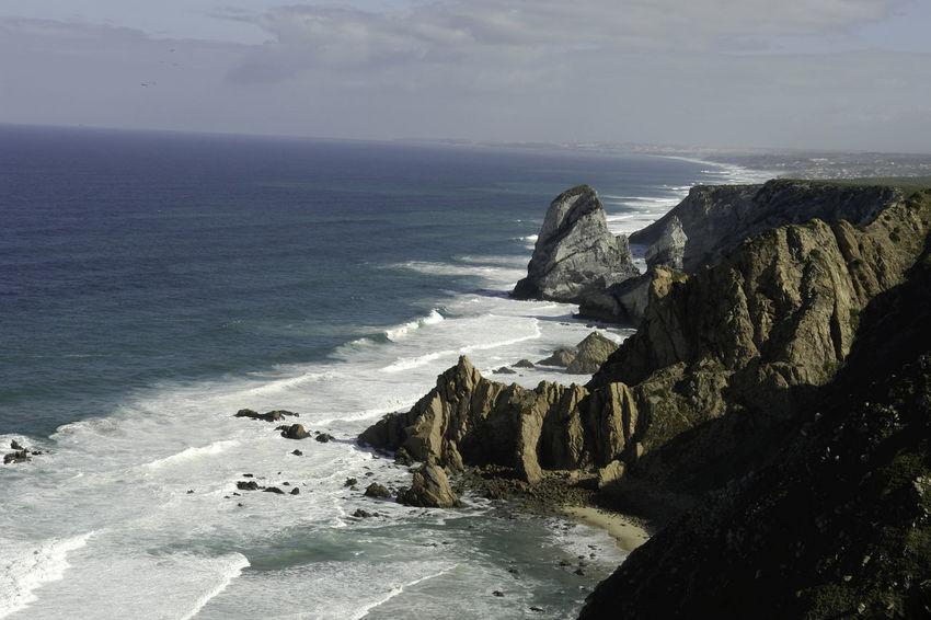 Beauty In Nature Cliff Coastline Horizon Over Water Nature No People Ocean Outdoors Rock Rock - Object Rock Formation Sea Shore Sky Sony DSC-R1 Tranquil Scene Water
