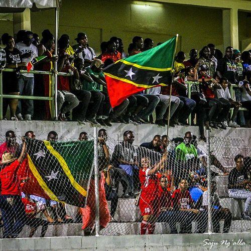 National pride on full display for Caribbean Cup Football... mek St. Kitts-Nevis demolish Dominica 5-NIL StKitts Nevis Cfu Caribbeanfootball Sportsphotography