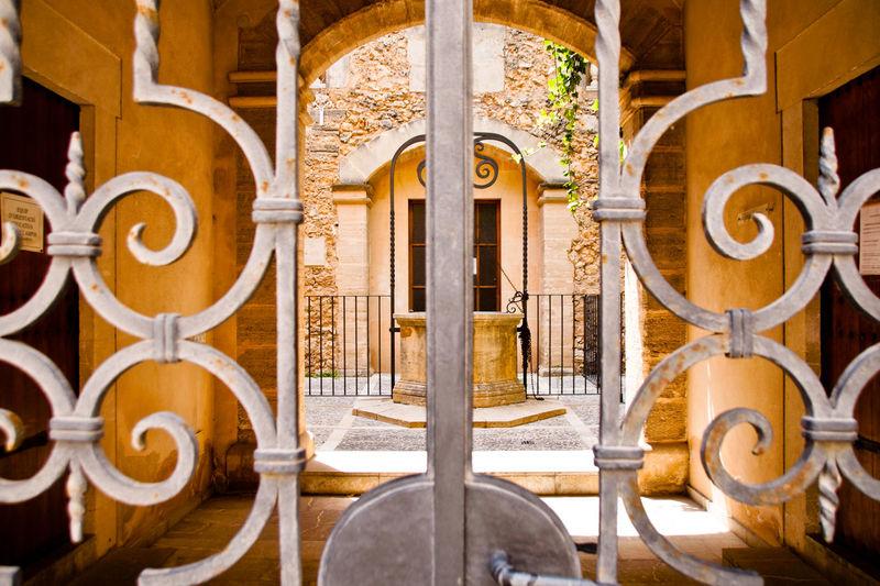 Interior gate of building