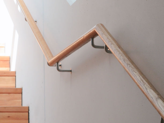 Close-up of ladder against wall at home