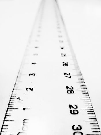 Technology Day Close-up No People Ruler Numbers Metric Perspective Plastic Instrument Of Measurement Accuracy Indoors