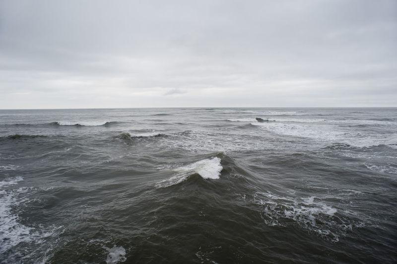 Waves Rushing In Sea