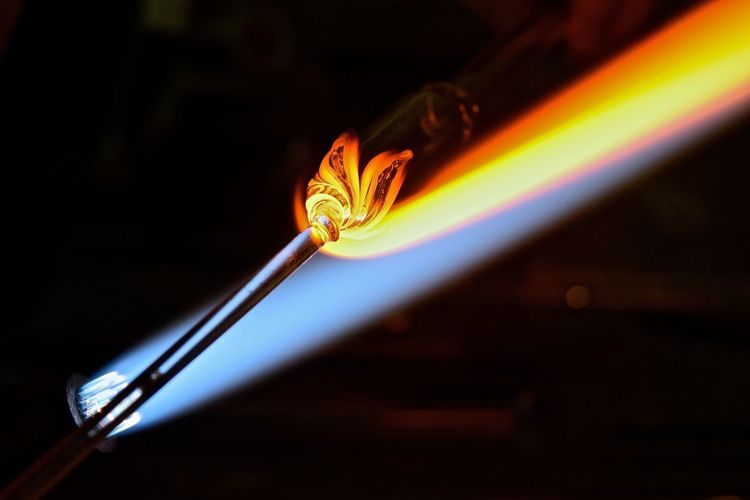 Glass Blowing #glassart #glassblowing Art Concentration Creativity Creativity Has No Limits Flames Girl Power Glass Artist Glass Artistry Glass Artwork Glass Blowing Hand Made Handmade Heat Skill  The Innovator Showcase June TakeoverContrast Maximum Closeness Handmade For You