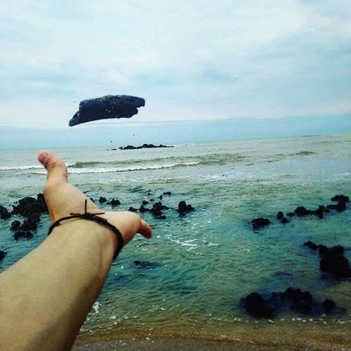 Não consigo pensar em uma legenda legal Praia Foto Pedra Mar Verão 2015  Año  Feriado L4like