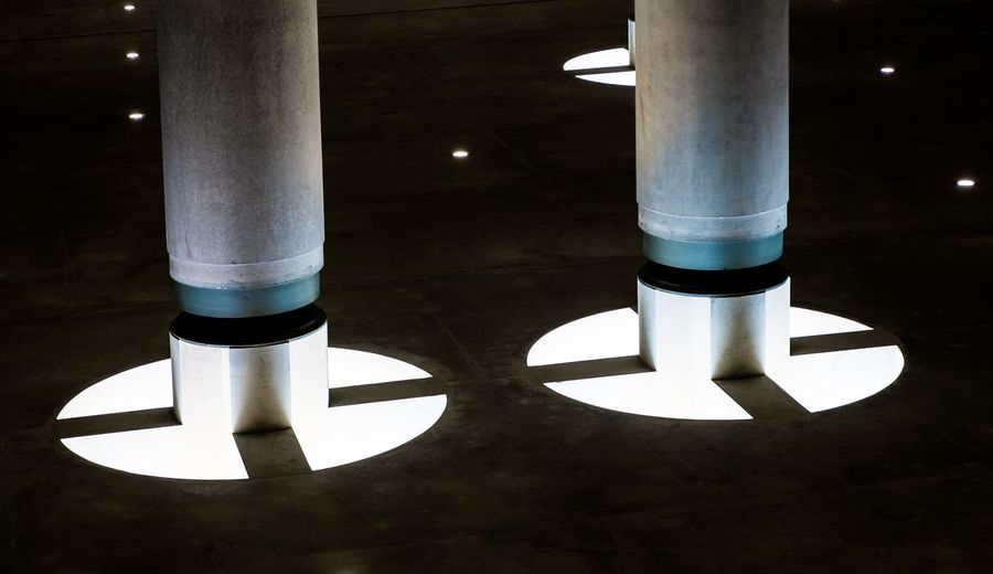 Illuminated Cropped Pillars