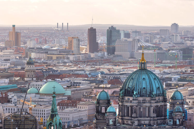 berlin cityscape buildings with the iconic tv tower Berlin Berlin City Berlin Cityscape Cityscape Germany From Above  Building Buildings Summer Brandenburg Cloudscape German Capital Historic Architecture Church.religion Plattenbau East Berlin West Berlin