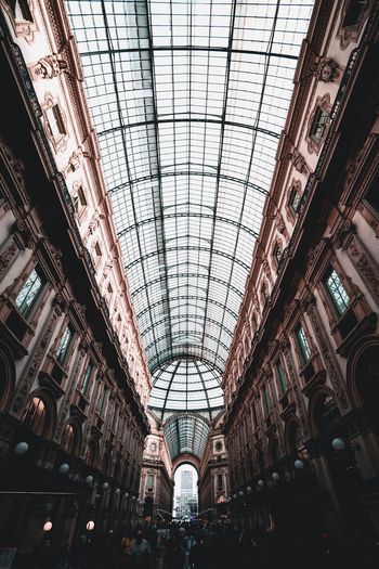 Architecture Built Structure Indoors  Ceiling Low Angle View Day Incidental People Decoration Travel Destinations In A Row Illuminated Travel Shopping Mall Group Of People Diminishing Perspective Arch Pattern Lighting Equipment Skylight